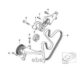 02-06 Mini Cooper S R52 R53 W11 Supercharged Engine Belt, Tensioner, Pulley Kit