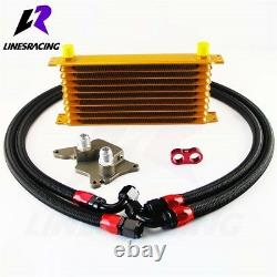 10 Rows Engine Oil Cooler Kit 06-12 Fits Bmw Mini Cooper S Supercharger R56