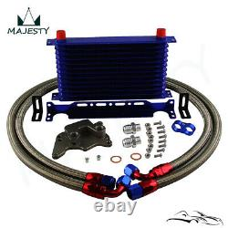 13 Row AN10 Oil Cooler Kit For BMW Mini Cooper S Supercharger R56 1.6L 06-12 BL
