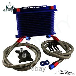 15 Row AN10 Oil Cooler Kit For BMW Mini Cooper S Supercharger R56 1.6L 06-12 BL