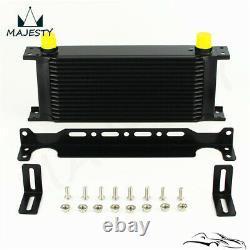 16 Row Oil Cooler Bracket Hose Kit For BMW Mini Cooper S R56 Supercharger Black
