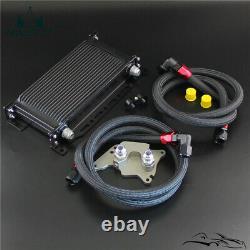 19 Row Oil Cooler Bracket Hose Kit For BMW Mini Cooper S R56 Supercharger Black