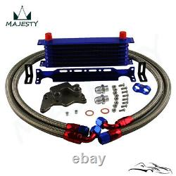 7 Row AN10 Oil Cooler Kit For BMW Mini Cooper S Supercharger R56 1.6L 06-12 BL