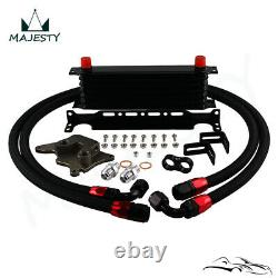 7 Row AN10 Oil Cooler Kit For BMW Mini Cooper S Supercharger R56 1.6L 2006-2012