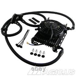 AN10 13 Row Oil Cooler Kit For BMW Mini Cooper S Supercharger R50 R52 R53+7 Fan