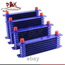 Blue 15Row Oil Cooler Kit with Bracket for MINI Cooper S R50 R52 R53 Supercharge