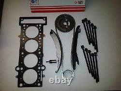Bmw Mini 1.6 Cooper-s Supercharged New Timing Chain Kit + Head Gasket & Bolts