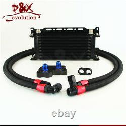 For BMW Mini Cooper S R53 Supercharger AN10 16 Row Oil Cooler with Bracket Kit