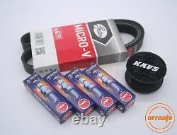 MINI Cooper S R52 R53 Supercharger Pulley Kit Belt Plugs KAVS 11% / BKR6EIX