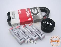 MINI Cooper S R52 R53 Supercharger Pulley Kit Belt Plugs KAVS 11% / BKR6EQUP