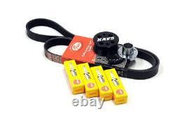 MINI Cooper S R52 R53 Supercharger Pulley Kit Belt Plugs KAVS 15% / NGK BCR8ES