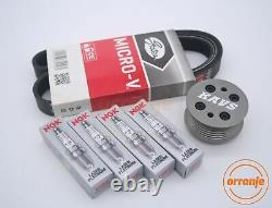 MINI Cooper S R52 R53 Supercharger Pulley Kit Belt Plugs KAVS 20% LW BKR6EQUP