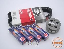 MINI Cooper S R52 R53 Supercharger Pulley Kit Belt Plugs KAVS 20% LW BKR8EIX