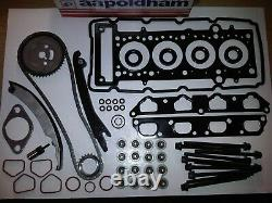 Mini 1.6 Cooper-s Supercharged 01-07 Timing Chain Kit + Head Gasket Set & Bolts